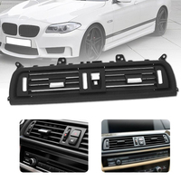 MagicKit Car Front Dash Panel Center Fresh Air Outlet Vent Grille Cover For BMW 5 F10 F18 Air conditioning Dash Air Heater Vent