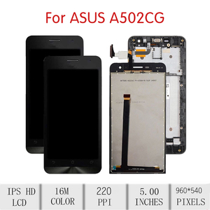 Image 3 - Originele Voor Asus Zenfone 5 Lite A502CG T00K Lcd Touch Screen Digitizer Vergadering Voor Asus A502cg Display Met Frame Vervanging