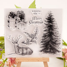 Transparent Stamps Christmas Gift Deer Clear Stamp Rubber Silicone Scrapbooking for Card Making Album Craft Decor New 2019 Stamp