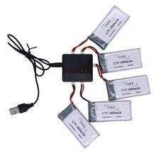 3.7 mAh 1800 V lipo Bateria com Carregador para SYMA KY601S X5 X5S X5C X5SC X5SH X5SW M18 H5P HQ898 H11D H11C T64 T04 T05 F28 F29 T56