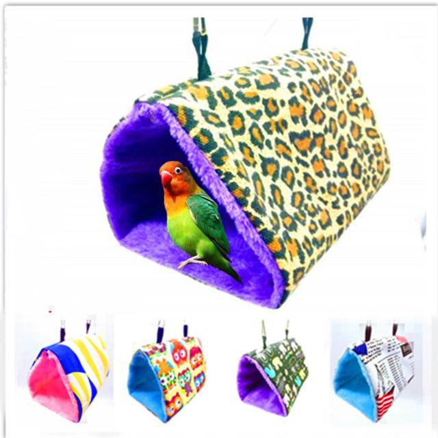 Winter Warm Bird Nest House Bed, Hanging Hammock Toy, for Parakeet Cockatiel Parrot Cage Perch Stand Swing