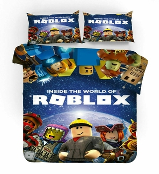 Hot Roblox Games Bedding Set Cartoon 3d DynaBlocks Sandbox Game Duvet Cover Sets Pillow Case Twin Full Queen King Free Shipping