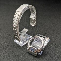 Splitter Farbe DW6900 Metall Edelstahl Armband und Lünette Uhr Band Strap Uhr Rahmen Armband Zubehör mit Reparatur Werkzeug