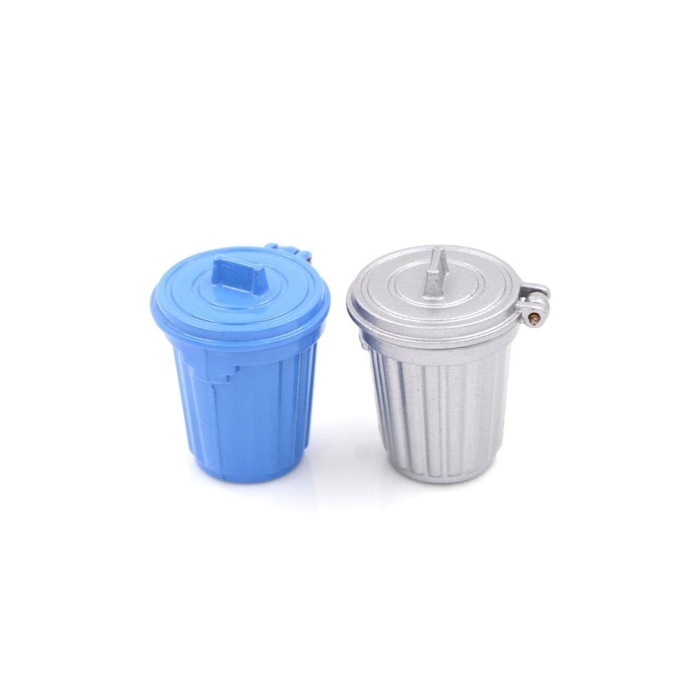 1PCS 1:12 Dollhouse Miniature Accessories Dustbin / Trash Can Simulation Kitchen Furniture Toys