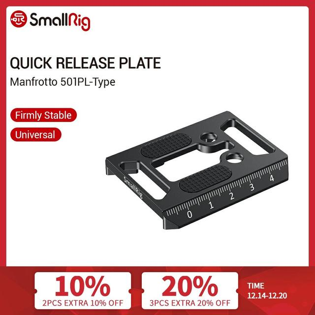 SmallRig Manfrotto 501PL Type Quick Release Plate for Select SmallRig Cages/DJI Ronin S Gimbal   2458