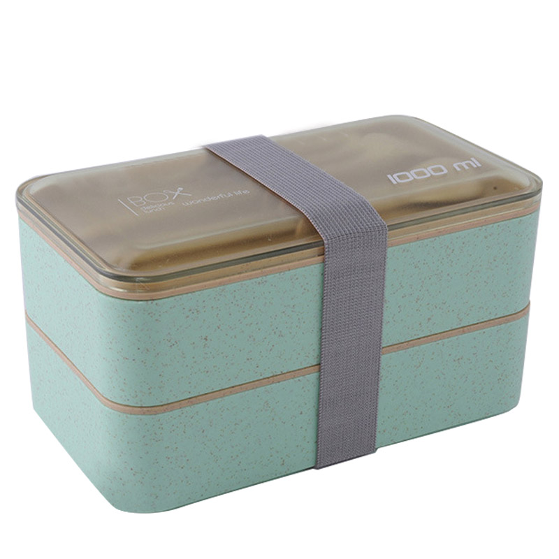 Portable Multifunctional 2 Tier Lunch Box Kitchen Utensils Cooking Accessories Casual Lunch Bag Material Escolar