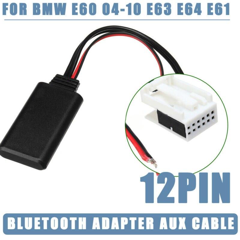 Carro automático aux cabo adaptador bluetooth durável carro rádio bluetooth substituição acessório 1pc para bmw e60 e61 e62 e63 e64 2003-2010