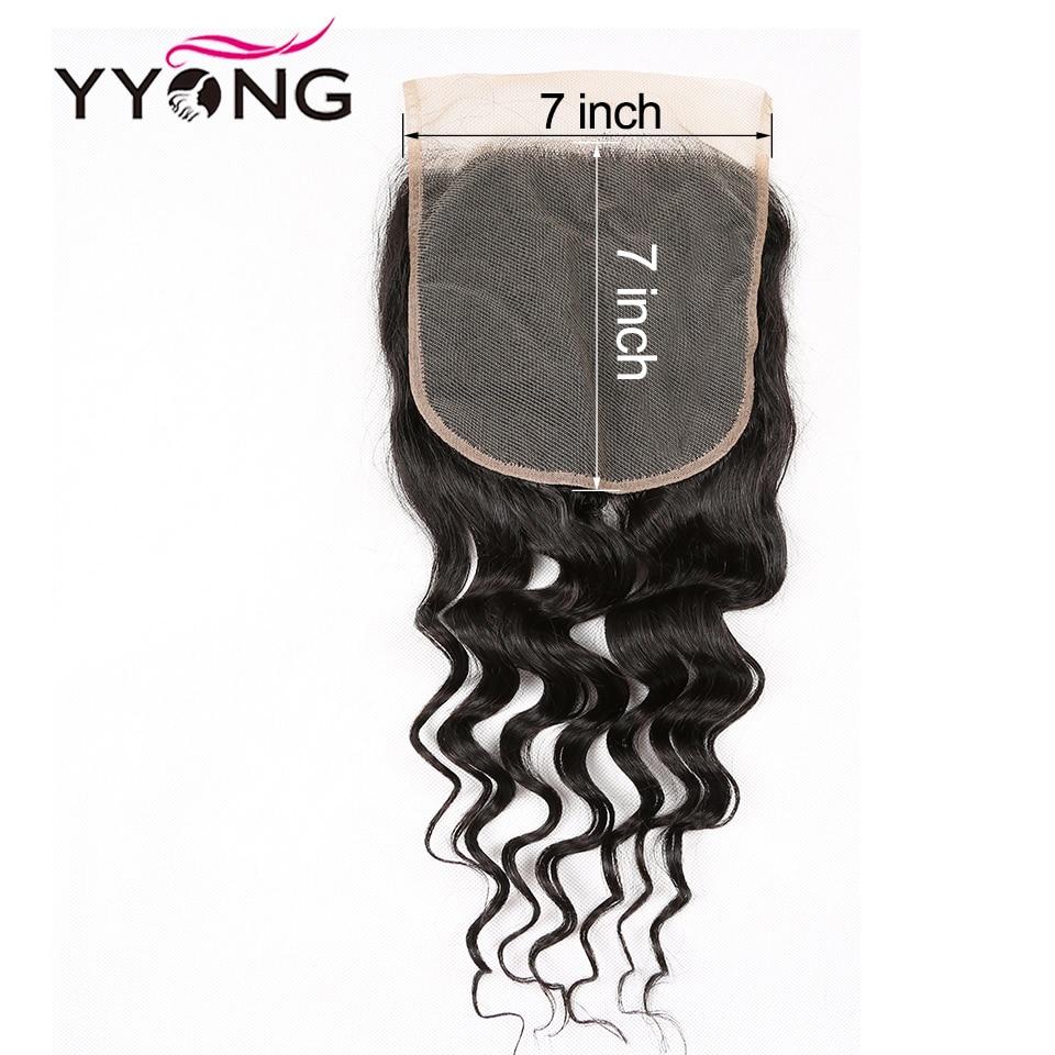 "YYONG 7x7 Bundles With Lace Closure Milan Wave Hair 10-30""   3/4 Piece Hair Bundles With Closure 6"