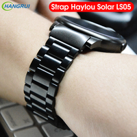 Metal for haylou solar ls05 strap bracelet band Stainless Steel straps for xiaomi haylou solar smart watch strap Belt