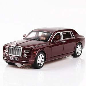 Image 3 - 2020 1/24 Diecast Toy Vehicl Rolls Royce Phantom Car Model Wheels Alloy Sound Light Pull Back Car Kid Toy Car Christmas Gift