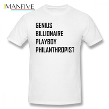 Stark Industries T Shirt Genius, Billionaire, Philanthropist T-Shirt Oversized Streetwear Tee 100 Cotton Tshirt