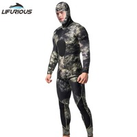 3mm Neoprene Diving Suit Swimming Wetsuits for Men Split Scuba Snorkel Swimsuit Spearfishing Surfing Jumpsuit Diving Equipment