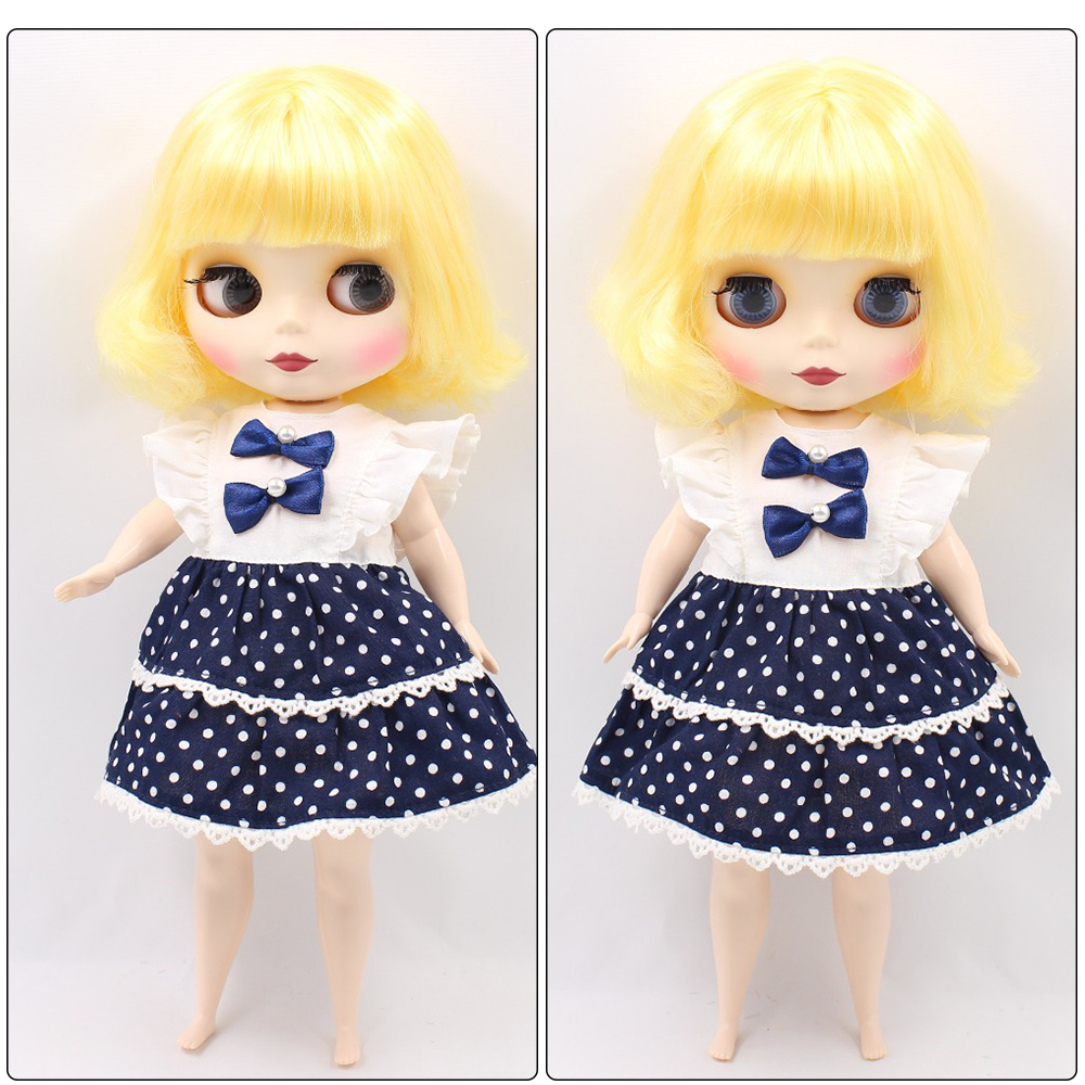 Neo Blythe Plump Doll with Yellow Hair, White Skin, Matte Face & Fat Body 1