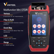 Multifunction Mini OTDR Fiber Optic Reflectometer with 8 Functions 22dB VFL OPM OLS Event Map RJ45 Cable Tester otdr