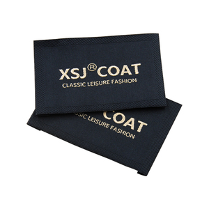 customized fabric sewing clothing labels for garment brand logo woven label with personalized name clothes tags for dress