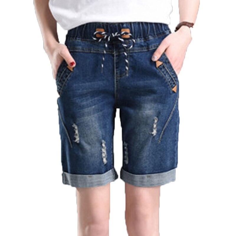 Shorts Women For Summer Plus Size 5XL Short Jeans Feminino Denim Shorts High Waist  Pocket  In New Fashion Female Loose Shorts