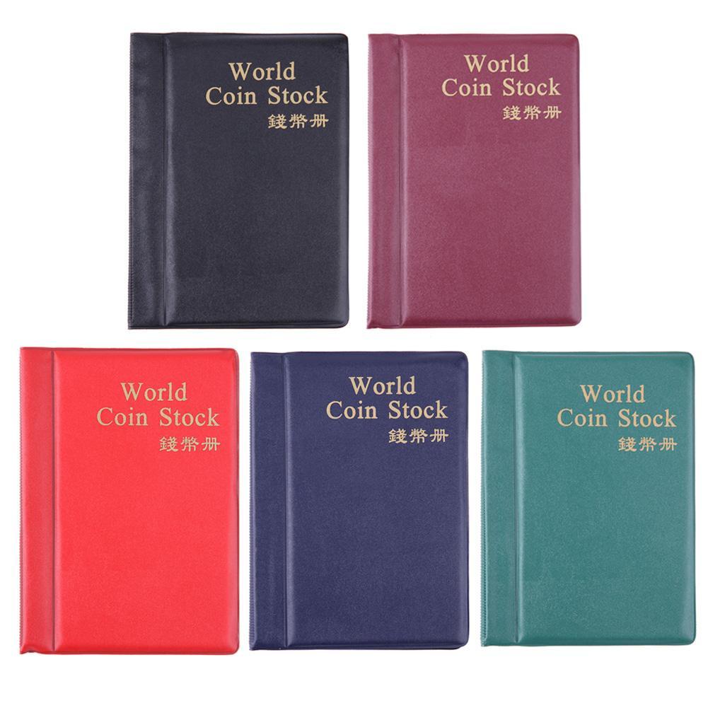 Álbum de 10 páginas con 120 bolsillos para colección de monedas, álbum de fotos Moneda de PVC, soportes de álbum de dinero, bolsa de almacenamiento de monedas