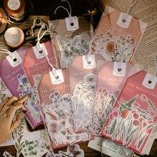 45 pçs coleção de flores do vintage washi adesivo conjunto decoração diário scrapbooking etiqueta papelaria