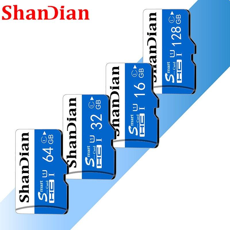 SHANDIAN Micro sd карта TF карта класс 10 Мини карта Micro sd 64 ГБ 32 ГБ 16 ГБ 8 ГБ внешний флеш-накопитель флэш-диск памяти для телефона