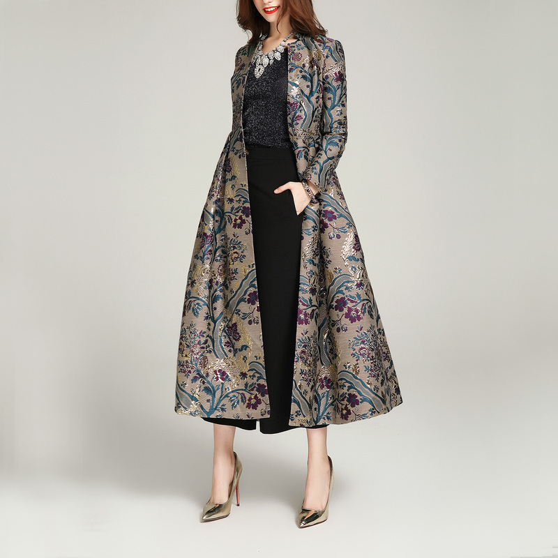 AYUSNUE Long Trench Coat Women Clothes 2020 Luxury