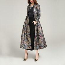 AYUSNUE Long Trench Coat Women Clothes 2020 Luxury Embroider