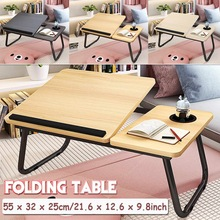Desk-Shelf Laptop-Stand Table-Size Studying Reading Foldable Book Bed Dormitory NEW 55x32-X-25cm
