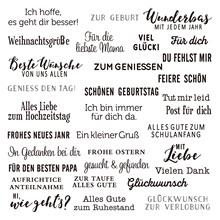 Niemiecki 2020 3D nowy Scrapbooking na wytwarzanie papieru urodziny tłoczenie ramki ręcznie robione kartki z wyczyść zestaw znaczków tanie tanio