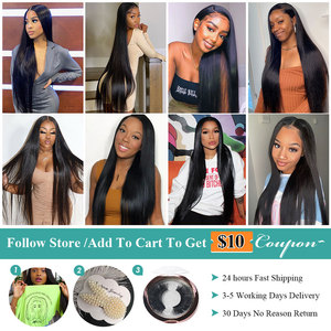 Image 5 - Allove Straight Lace Front Wig Peruvian Lace Part Wig Middle Part 13X4X1 Lace Front Human Hair Wigs Hd Transparent Lace Wigs
