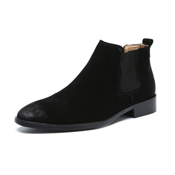 new arrival mens fashion ankle boots cow suede leather shoes vintage chelsea boot zapatos de hombre botas masculinas botines man