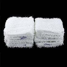 8pcs Mop Head Replacement Pad For Shark S3501 Washable Cleaning Pads Microfiber Machine Washable Cloths White Color(China)