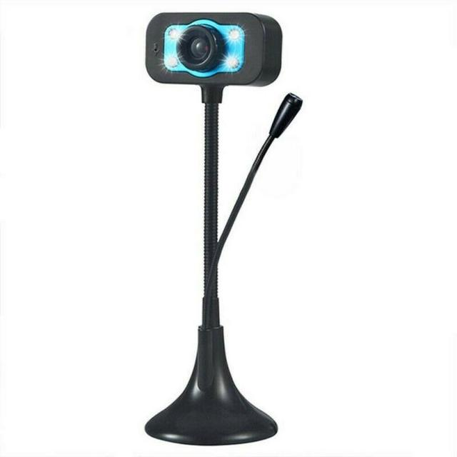 Computer Webcam USB Camera Full HD Webcam USB Video Camera With Microphone Videophone For PC Laptop Suction Cup Base USB2.0