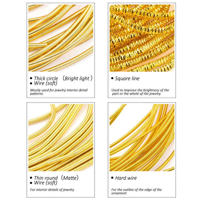 10 G/partij Sieraden Accessoires Borduurwerk Badge Mat, Harde Oude Werk Borduren, Franse Edelmetaal Draad, Koperdraad, hand Made Accessoires