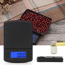 1 libra de alta precisão eletrônico pesando mini escala de bolso de plástico, usado para pesar ouro jóias escala de alimentos gram