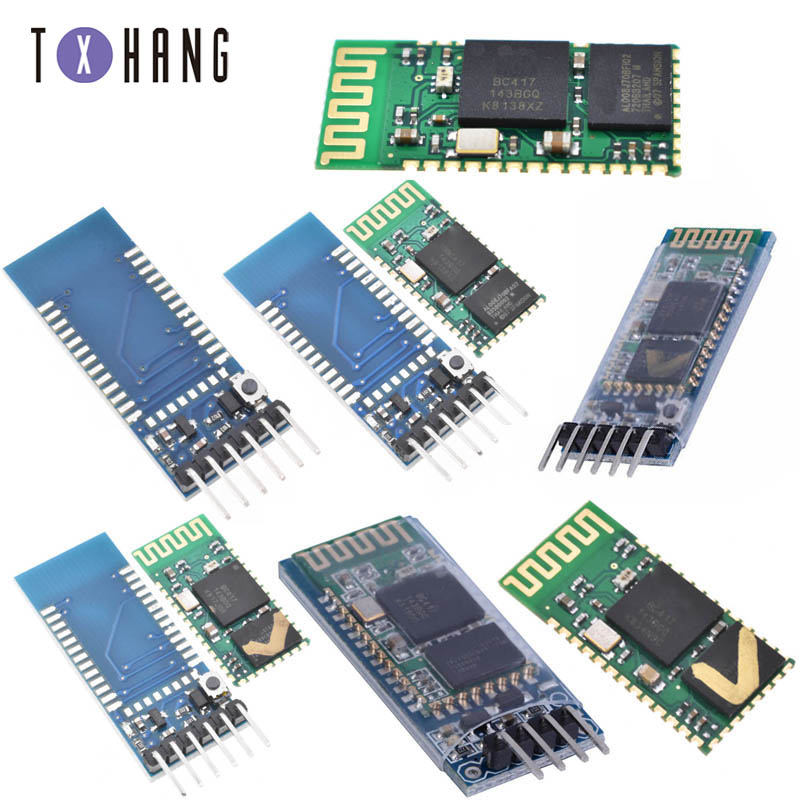 <font><b>HC</b></font>-05/<font><b>HC</b></font>-<font><b>06</b></font> Bluetooth Transceiver Module 2.4G RF Wireless Industrial Bluetooth module RS232 / TTL to UART converter 4 Pin/6PIN image