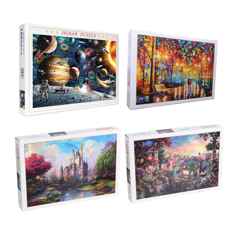Hot Sale Jigsaw Puzzles 1000 Pieces Assembling Picture Landscape Puzzles Toys For Adults Children Kids Games Educational Toys