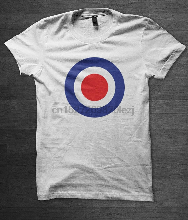 NEW Mod Target Mens Scooter Retro Vintage Rocker White T-Shirt