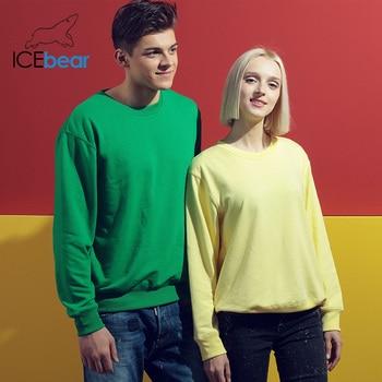 icebear 2020 New Casual Long Sleeve Round Neck Sweatshirt Pullover Men/Women Neutral style 029