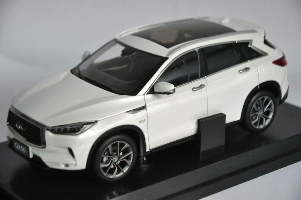 <font><b>1:18</b></font> <font><b>Diecast</b></font> Model for <font><b>Nissan</b></font> Infiniti QX50 2018 White SUV Alloy Toy <font><b>Car</b></font> Miniature Collection Gifts Hot Selling QX EX25 image