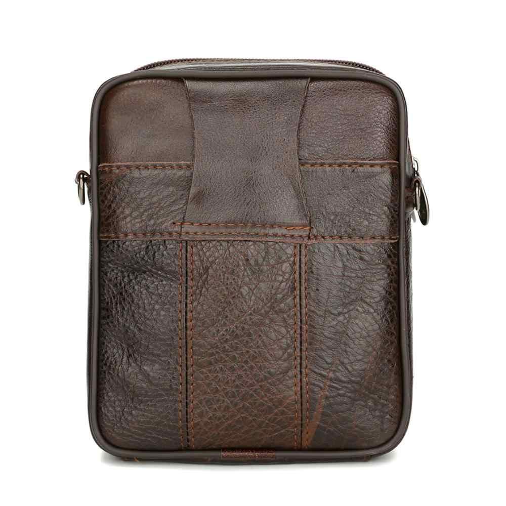 Mode Mannen Lederen Kleine Messenger Bag Mannelijke Boekentassen Multifunctionele Schoudertas Lederen Crossbody Tassen Voor Mannen
