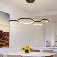 NEO Gleam современные светодиодные подвесные светильники белого/черного цвета для столовой  кухни  гостиной  подвесная Подвеска лампы