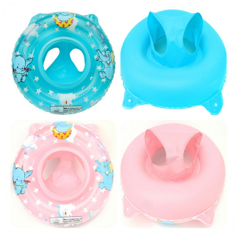 Infant Swimming Lifebuoy Inflatable Baby Bath Toys Play Water Cartoon Animals Fun Safe Bathing Toys 0-5T