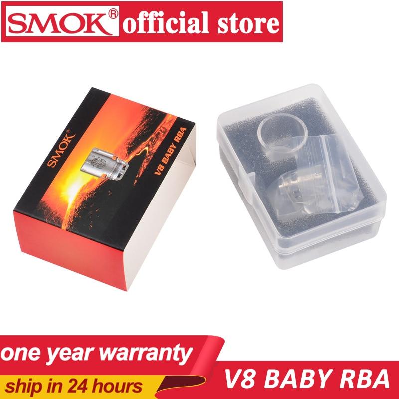 100% मूल स्मोक वी 8 बेबी आरबीए कॉइल और वी 8 आरबीए अनन्य ग्लास ट्यूब और सीलिंग रिंग्स टीएफवी 8 बेबी टैंक के लिए फिट है