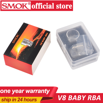 100% Original Smok V8 Baby RBA coil and V8 RBA exclusive glass tube & sealing rings Fit for TFV8 Baby Tank