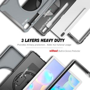 "Image 2 - Чехол для планшета Samsung Galaxy Tab S6 10,5 ""T860 2019, ударопрочный Прочный жесткий чехол для Samsung Tab T860, чехол с подставкой"