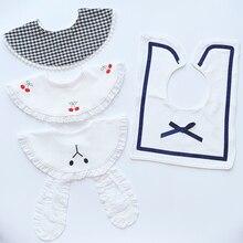 Sweet Newborn Baby Bib Drooling Saliva Towel Anti-spitting Milk Bibs Soft Absorbent Bib Children Fake Collar Accessories