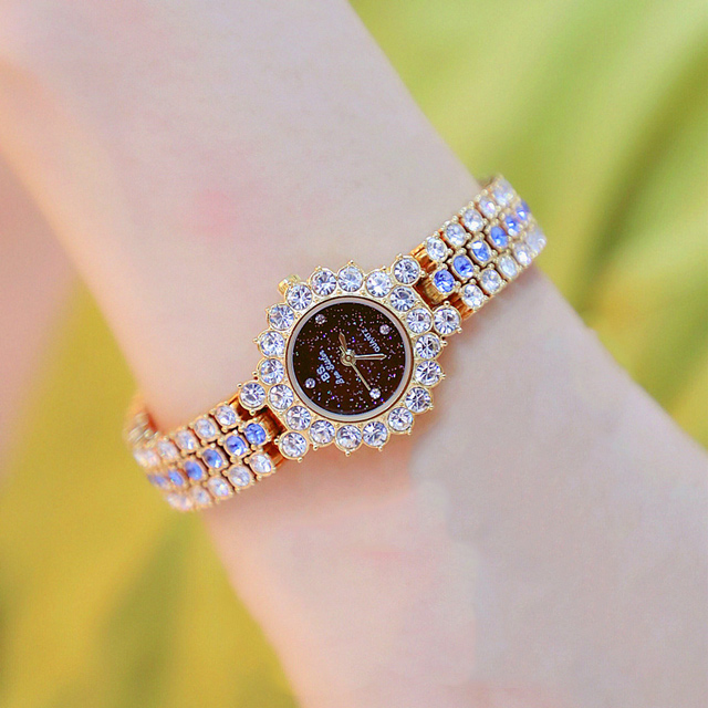 Watches Womens 2020 Top Luxury Brand Small Dress Diamond Watch Women Bracelet Rhinestone Wristwatch Women Montre Femme  7