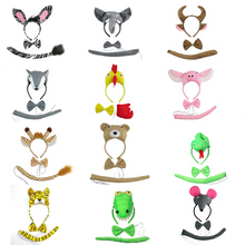 Headband Shower Animal Ears Halloween Adult Gift Cartoon Cosplay Party Christmas-Props