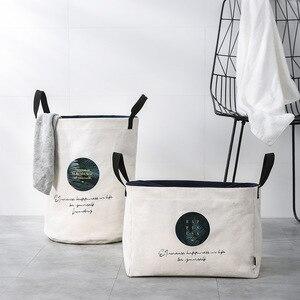 Image 2 - 세탁 바구니 접는 더러운 옷 대용량 저장 상자 주최자 세탁 패션 스타일 YORO