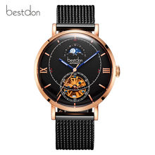 Switzerland brand Bestdon Luxury Automatic Watch Men Skeleton Waterproof mens Mechanical Watches fashion casual reloj montre new