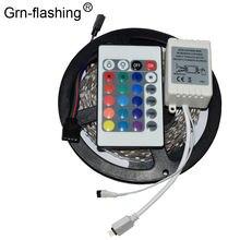 5m Светодиодные ленты огни smd3528/2835 dc 12v rgb освещения